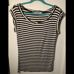 Gibson | Blank and White Striped T shirt